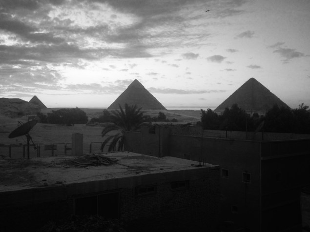 The pyramids are so enigmatic and strange. It was quite a treat to get to sit and stare at them from our balcony.