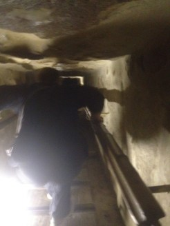 Inside a pyramid in Cairo, Egypt.
