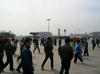 It wasn't as easy to find Tiananmen Square as we thought it would be when we first got to Beijing.