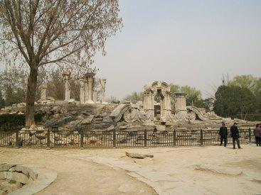 Ruins Yuan Ming Yuan Beijing China