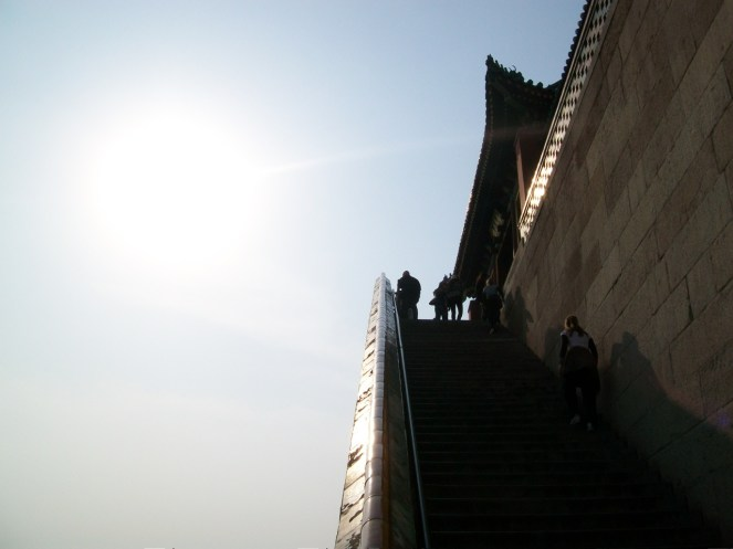 As with all the other tourist destinations in Beijing, the Summer Palace had no shortage of steep staircases.