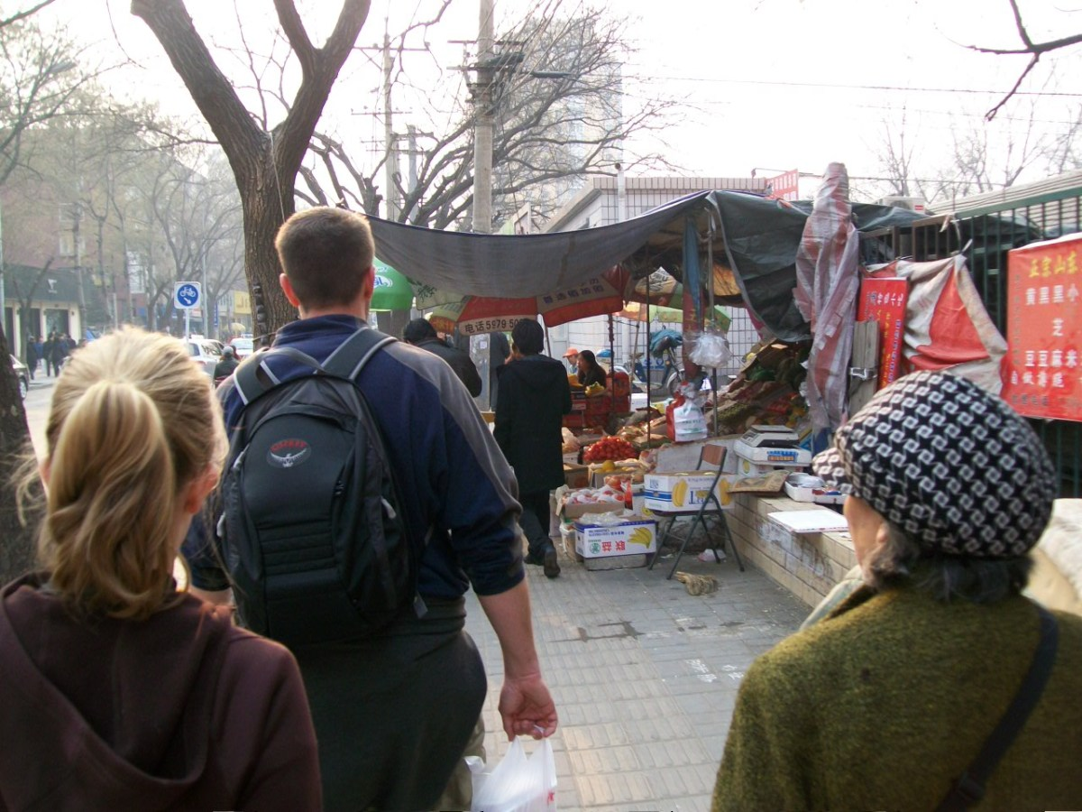 Beijing Food: Market with Fresh Fruits and Vegetables