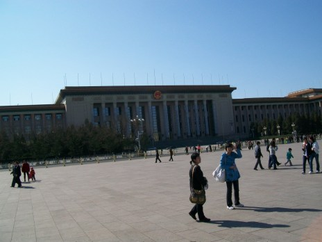 The mausoleum of Mao Zedong in Tiananmen Square. We weren't able to go inside that day because it was closed.