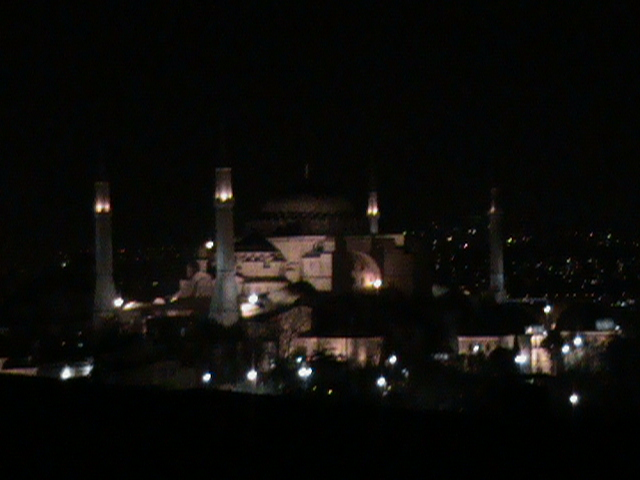 Istanbul: View of the Haghia Sofia from Our Hotel Room