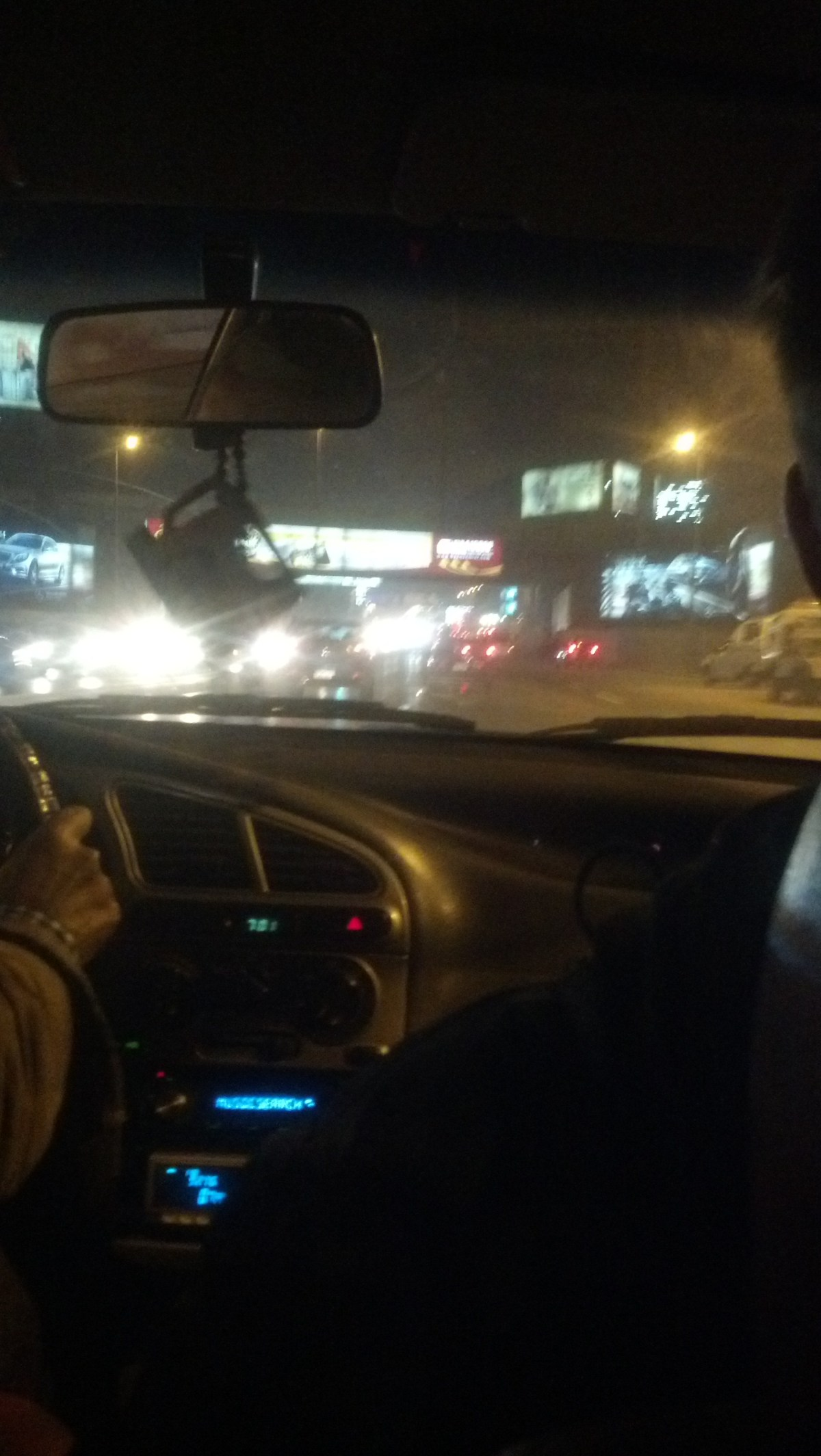 Egypt Tourism: Taxi Ride in Cairo at Night
