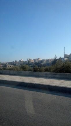 Driving just outside of Amman, Jordan.