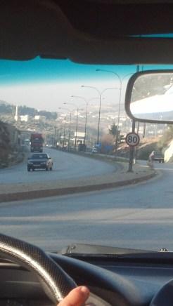 Driving in Amman, Jordan.