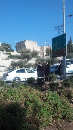 Driving in Jerusalem, Israel.