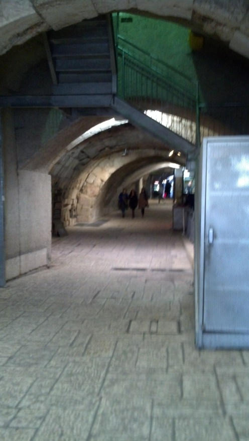 We took the Western Wall tunnels toward our next destination (the Temple Mount).