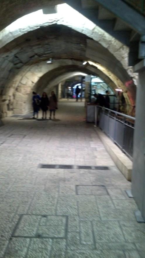 The Western Wall tunnels in Jerusalem, Israel.