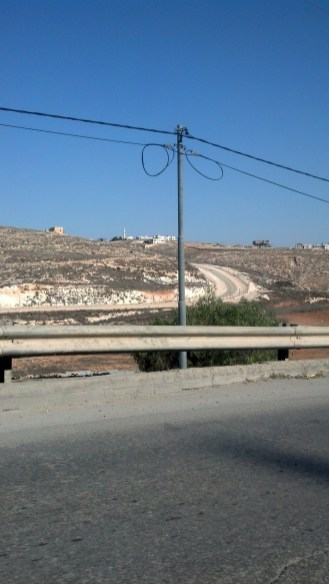 Driving in the Palestinian Territories in Israel. We noticed that the environment in the Palestinian Territories seemed to be more run down than in other areas of Israel.