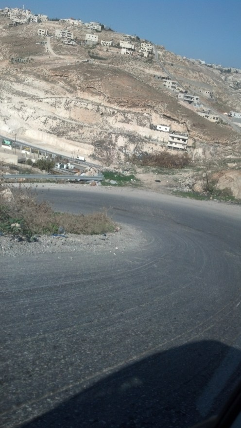 Driving in the Palestinian Territories in Israel.