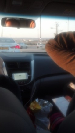 We kept heading south until we got to Be'er Sheva (20 miles from the Gaza Strip).
