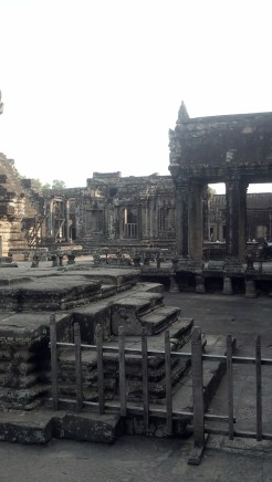 It's always interesting how there are all these parts of famous ruins like Angkor Wat that you never see in pictures of the ruins.