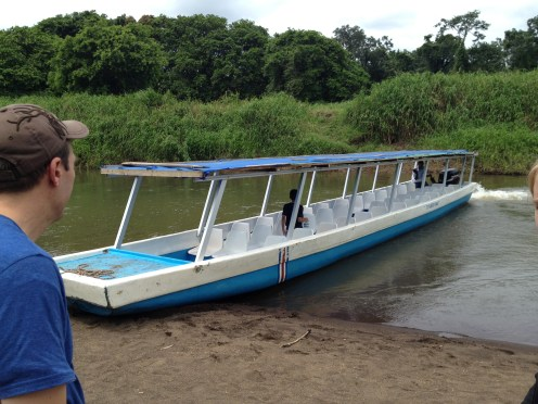 Walking toward the river boat we took to Tortuguero.