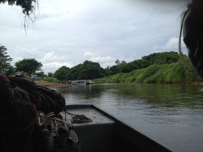 View from the boat to Tortuguero.