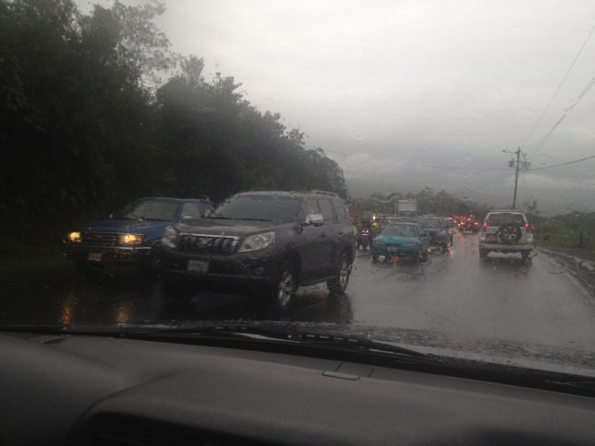 We encountered Costa Rican monsoon rains on our way to Tortuguero.