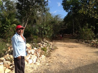 This man spoke both Mayan and Spanish. He translated what the family said into Spanish and then we tried to understand.