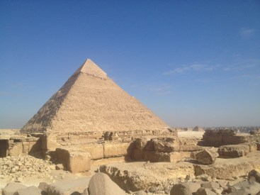 The pyramids in Cairo, Egypt.