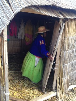"This woman gave us a ""tour"" of her house on Lake Titicaca."