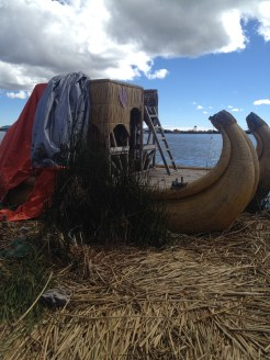 A boat that we road out onto Lake Titicaca a little ways.