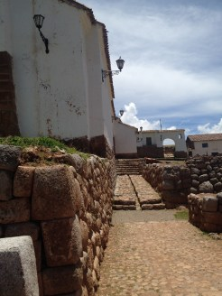 Nearby to the Saksaywaman ruins were some old Spanish structures.