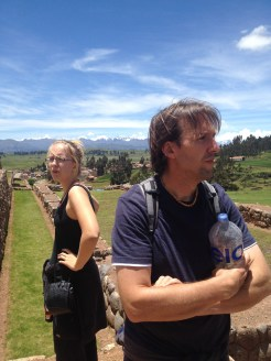 The Saksaywaman ruins in Peru.