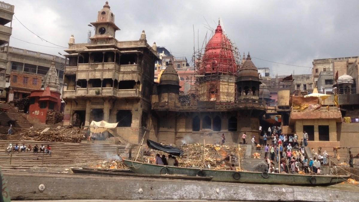 Varanasi, India: The Burning Ghats along the Ganges River