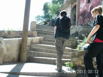 Guanajuato Mexico Stairs Water
