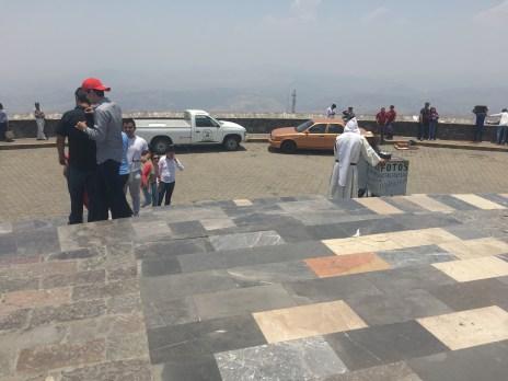 Walking outside the Cristo Rey statue in Guanajuato, Mexico.