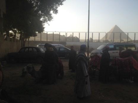 Pyramids Nazlet Al Sammam Cairo Egypt Camels