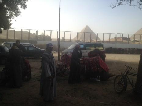 Nazlet Al Sammam Cairo Egypt Camels Pyramids