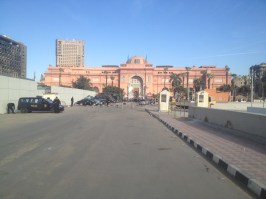 The Egyptian Museum and Tahrir Square in Cairo, Egypt.