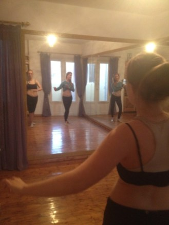 Lydian took belly dance classes during our 2015 trip to Cairo, Egypt.