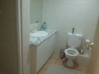 One of the bathrooms in our vacation rental in Johannesburg.