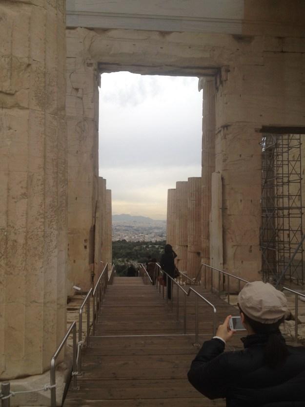 The area leading to the Parthenon.