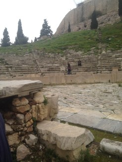 Another picture of the theater of Dionysus at the Acropolis.