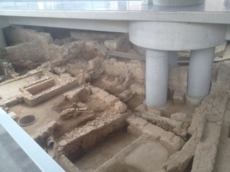 The ruins underneath the Acropolis Museum in Athens.