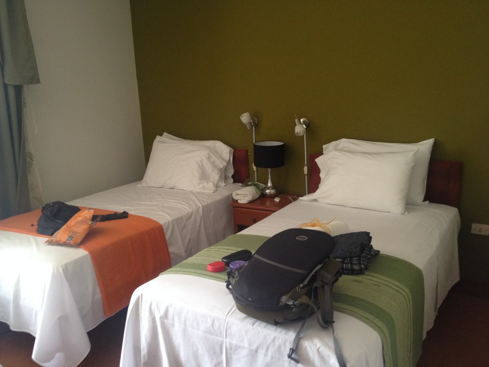 The room was small, but very clean and comfortable.