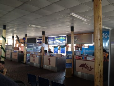Inside the Nazca Airport.