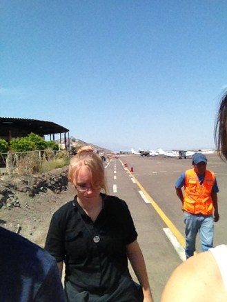 Nazca Peru Lines Airport Selfie