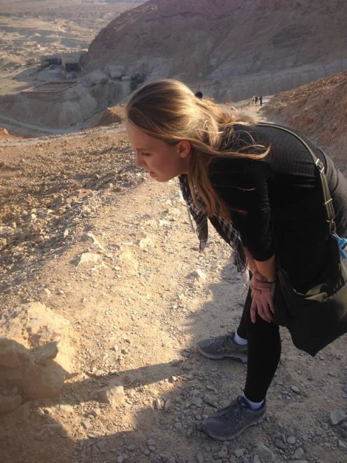 Lydian, a 15 year old at the time of our visit to Masada, thought she'd die of breathlessness on the climb from below sea level to 1000 feet.