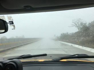 San Antonio, Driving in Mexico, Jace, Rain