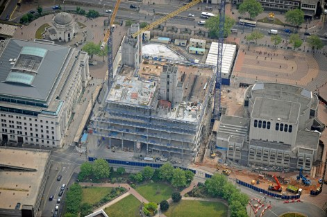 Library of Birmingham Aerial view 2 in May 11