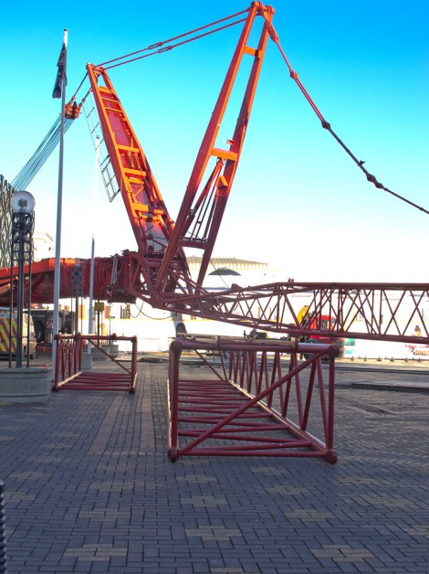 Mobile Crane top jib construction
