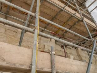 How the scaffolding looks as a climber