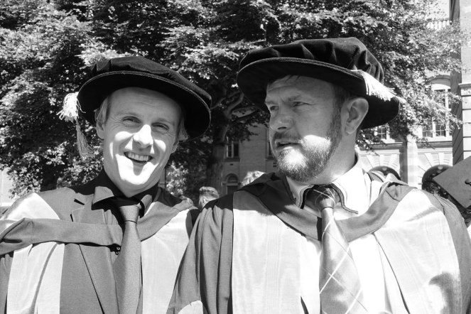 Dr Hal Duncan PhD with supervisor Prof Cooper