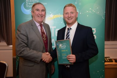 Professor Gervase Phinn with Tom Harris from Pool Hayes Academy
