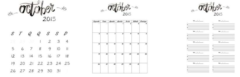 calendario outubro 2015