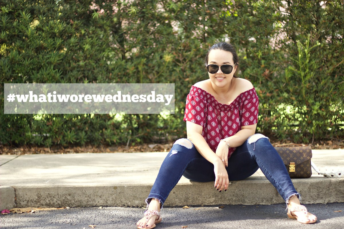 #whatiworewednesday: off the shoulder casual + mini giveaway!